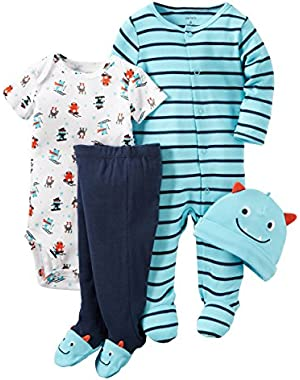 Blue Monster 4 Piece Sleep & Play Set Newborn