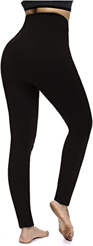 Looki Women's Fleece Lined Leggings High Waist Seamless Tummy Control Leggings