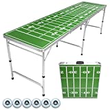 GoPong 8-Foot Portable Folding Beer Pong/Flip Cup Table, Includes 6 Pong Balls