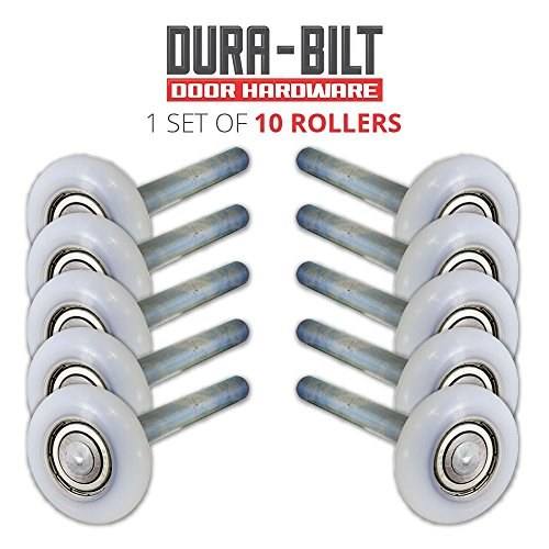 "Ultra-Life 2"" Nylon Garage Roller with Reinforced 6200Z Bearing and 4"" Stem (10 Pack)"