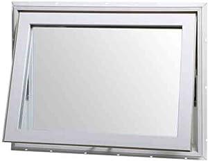 "Park Ridge Products VAW3222PR Insulated Vinyl Awning Window, 32"" x 22"", White"