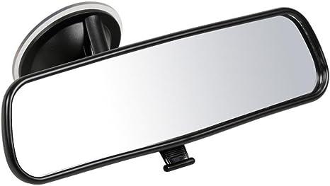 con collo di cigno anti-vibrazioni, superficie specchio: 153/x 45/mm colore nero Wicked Chili Specchietto retrovisore per passeggero per il fissaggio al parabrezza