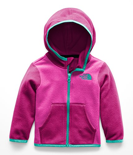 The North Face Infant Glacier Full Zip Hoodie - Azalea Pink & Mint Blue - 18M by The North Face