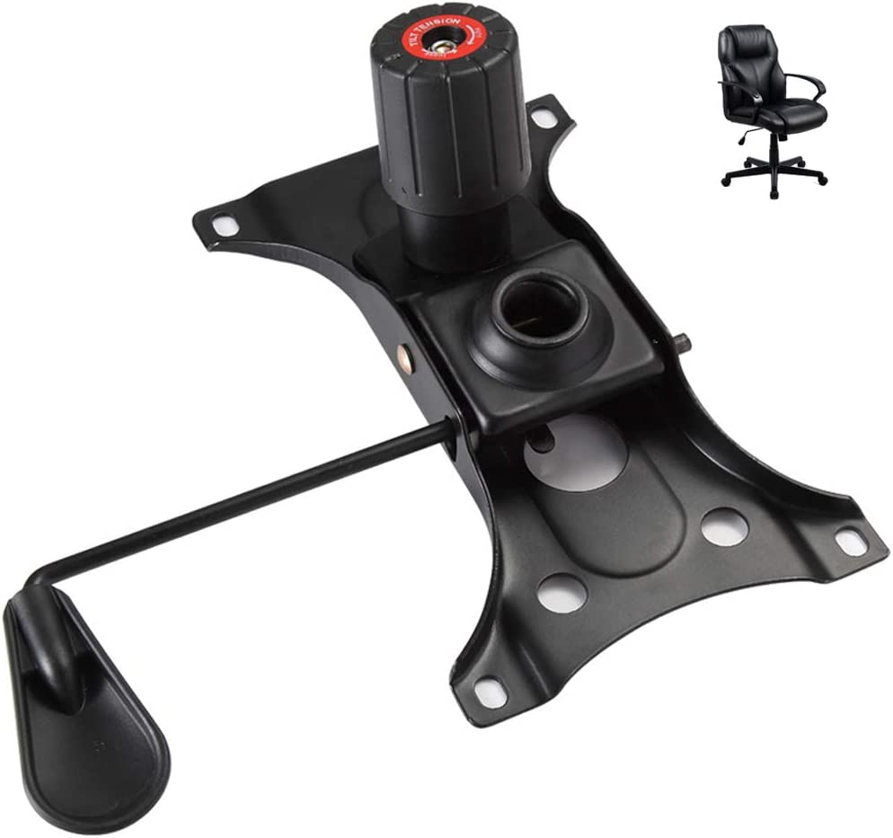 "Skelang Tilt Control Mechanism Replacement, Office Chair Tilt Base Control Lift Mechanism, Swivel Base Plate Control Seat Mechanism, Mounting Hole Dimension: 10.2""×6""(L×W)"