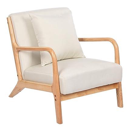 Remarkable Tenozek Fabric Mid Century Modern Club Chair Beige Gamerscity Chair Design For Home Gamerscityorg