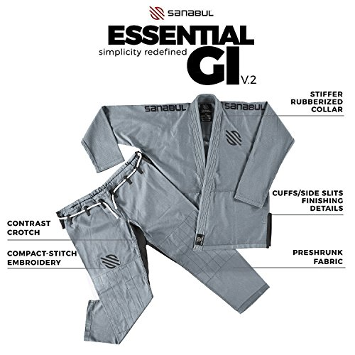 Sanabul Essentials v 2 Ultra Light Pre Shrunk BJJ Jiu Jitsu