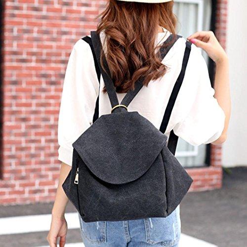 Canvas Black Backpack Bags Shoulder Tilt Leisure Shoulder Shoulder Bag Women's iOPQO A81wqH