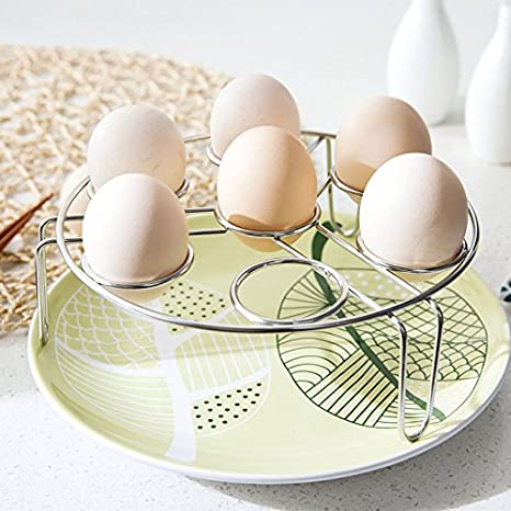 Kslong 1.77 Inch Height Stainless Steel Steamer Egg Rack Triangle Cooking Tools Poacher Steam Basket