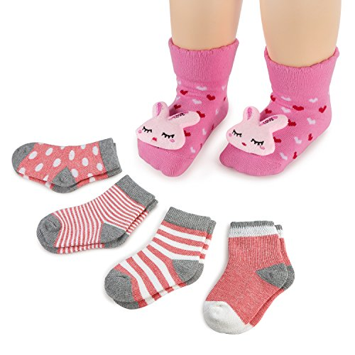 Baby 3D Anti-Slip Socks Set of 3 - 5