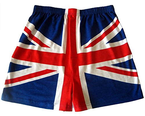 SockShop Men's 1 Pair Magic Boxer Shorts in Union Jack Pattern Medium Blue / Red (Best Boxer Shorts Uk)