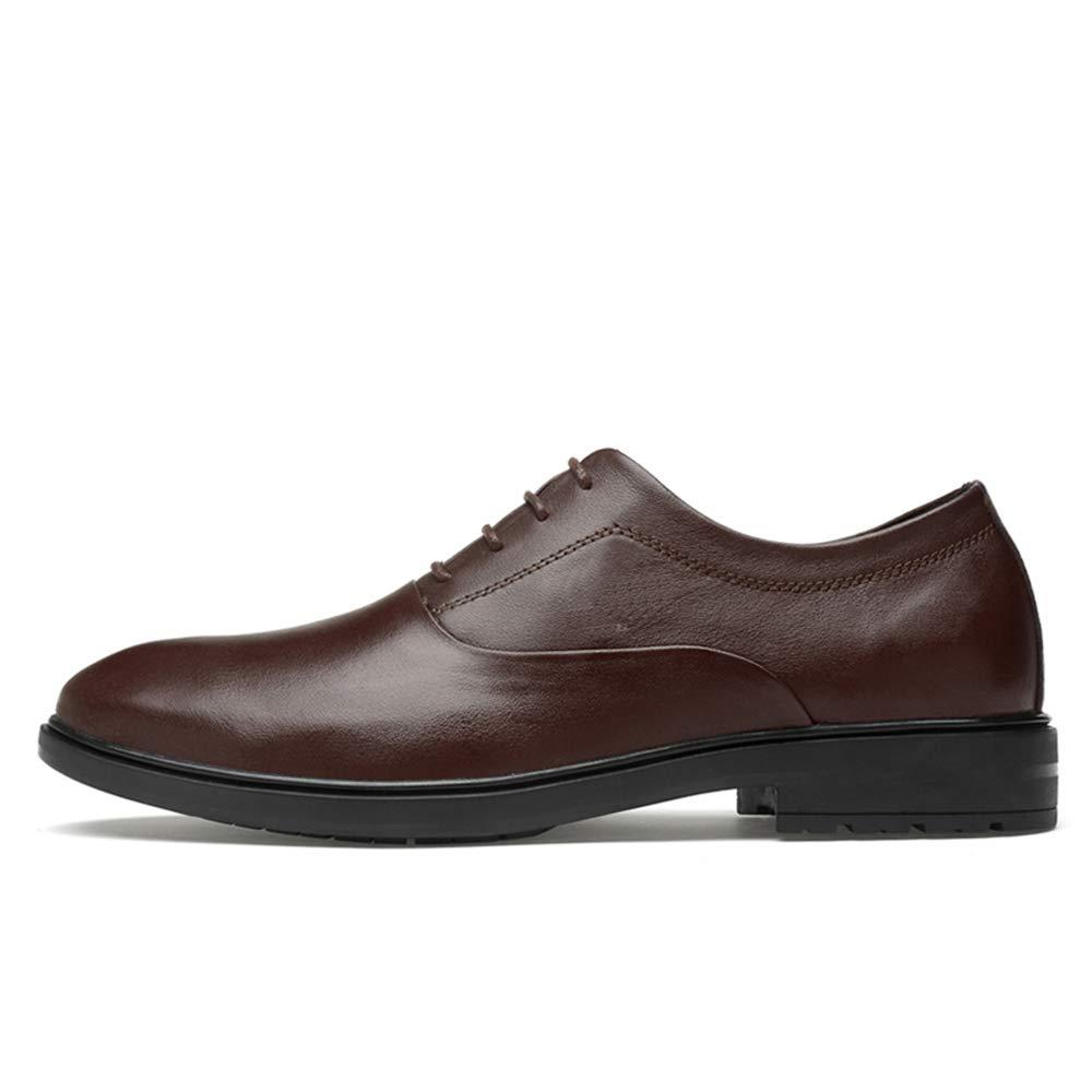 Ofgcfbvxd Lässige Flache Schuhe für Männer Oxford lässig lässig lässig einfache Klassische einfarbige Schuhe (Slip On optional) Formelle Rutschfeste Schnürschuhe (Farbe   Slip On schwarz, Größe   44 EU) 7b5386