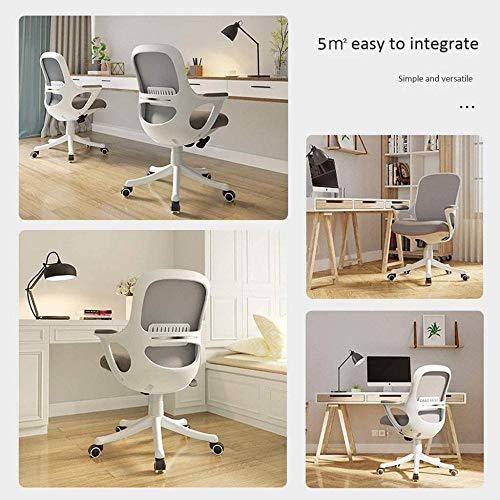 Kontorsstol ergonomisk datorstol svängbar skrivbordsstol, höjd justerbar, 360° rotation, svampkudde knästol