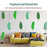 Leaf Stencil Set - Pack of 3 Unique Leaf Wall Stencil Designs for Painting - Use This Leaf Stencil Kit to Update Your Home Decor