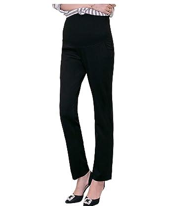 a64ca701501ce Funfreeyer Maternity Pants Career Wear Maternity Slacks Pregnancy Trousers  (Medium, Black)