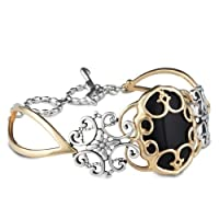 Relios Mixed Metal Black Onyx Statement Bracelet by Relios
