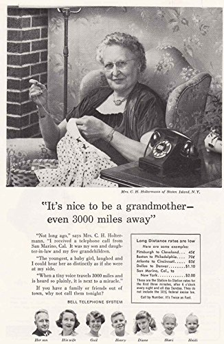 Mrs. C. H. Holtermann, Staten Island, Bell Telephone Print Ad (1956 Bell Telephone)