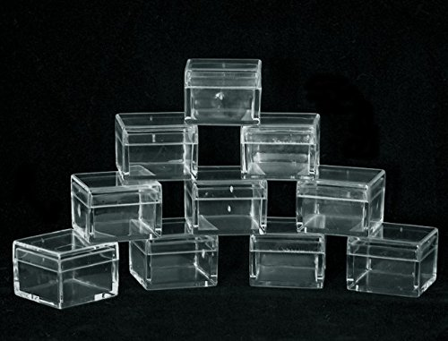 SQUARE CLEAR ACRYLIC GEM BOXES 50 QTY