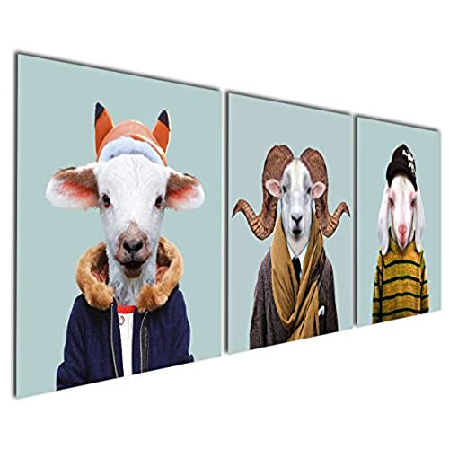 Ordinaire Gardenia Art   Series 12 Animal World Sheep Lamb And Goat Canvas Prints  Modern Wall Art Paintings Sheeps Artwork For Room Decoration,12x12 Inch, ...