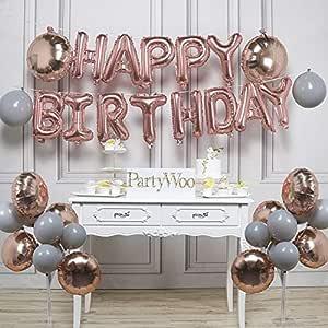 PartyWoo Foil Globos de Cumpleaños 31 Piezas Látex Globos de ...