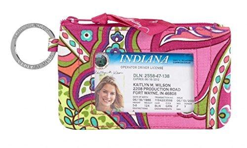 (Vera Bradley Zip ID Case in Pink Swirls)