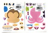 Rhode Island Novelty 24 Make-an-Animal Sticker Bundle: 12 Sheets Each of Make-A-Zoo Jungle Animal and Make-A-Sea Ocean Animal (24 Sheets)