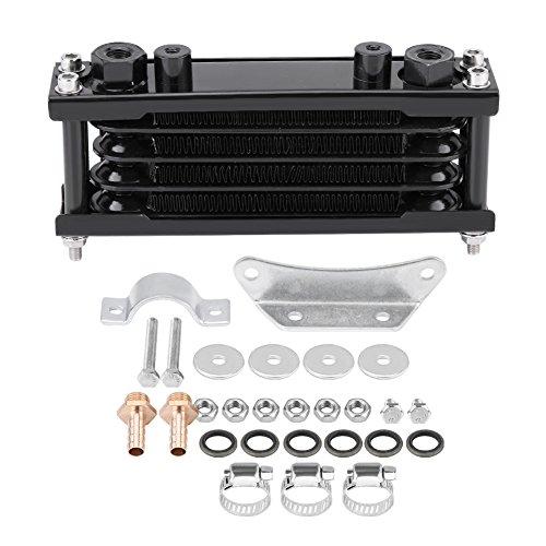 Universal Engine Oil Cooler Kit Motorcycle Oil Cooler Cooling Radiator for Motorbike Dirt Bike 50CC-200CC(Black)