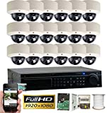 GW Security 32CH HD 1080p 4-In-1 DVR Security System, QR-Code Connection, 18 Day Night 1920TVL High Resolution Weatherproof Dome Cameras CCTV Surveillance System 4TB HDD Review