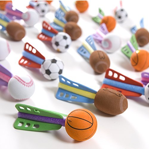 Fun Express Foam Mini Sport Ball Missiles Toy - 24 Pieces (Balls Piece 24)