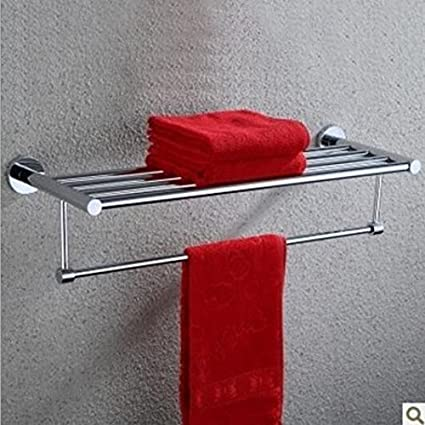 SSJDCF Toalleros de acero inoxidable con toallas dobles y dobles