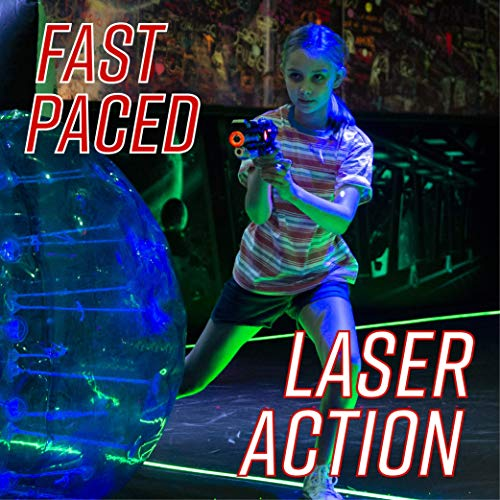 Power Tag Infrared Laser Tag Gun & Glove Set - for Kids & Adults - 6 Player Pack with 4 Guns and 2 Battle Blasters - Infrared -1mW by Power Tag (Image #3)