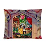 """Disney Cartoon Beauty and the Beast theme Personalized Custom Zippered Pillow Case 20""""x26""""(one side) - newlife store"""