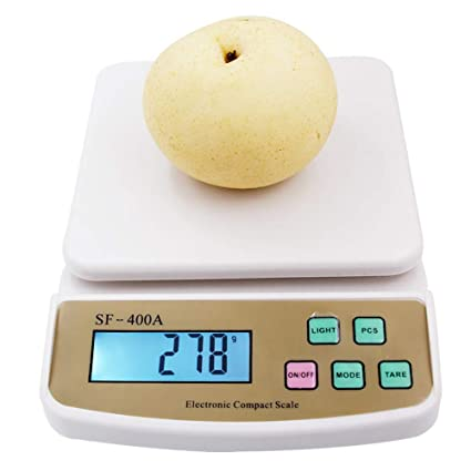 DuDuDu Fruta Digital Escalas de Cocina Dieta contando balanza de pesaje electrónico con luz de Fondo
