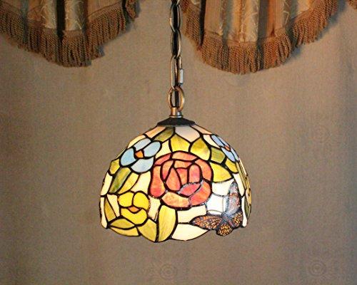 Royal-8 inch Tiffany European-style garden butterfly flower boutique glass chandeliers
