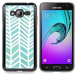 For Samsung Galaxy J3(2016) J320F J320P J320M J320Y Case , Motif Aquarelle Blanc Vert - Diseño Patrón Teléfono Caso Cubierta Case Bumper Duro Protección Case Cover Funda