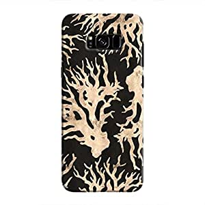 Cover It Up - Black Gold Nature Print Galaxy S8 Hard Case