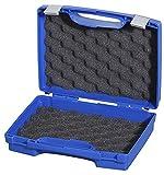 DURATOOL 17026H44.034.GPB Storage Case, Plastic, with Foam, Blue, 260mm x 210mm x 44mm