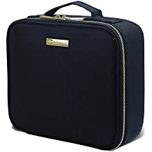 """SHPMAS Makeup Train Cases Professional Travel Makeup Bag Cosmetic Cases Organizer Portable Storage Bag for Cosmetics Makeup Brushes Toiletry Travel Accessories Jewelry Essential oil 10.3"""""""