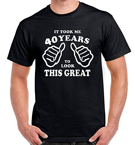 It took 40 Years to Look This Good T Shirt 40th Birthday Gift for Husband Brother Son and Friends Funny Born in Year 1976 Birthday Present T-Shirt (Black, XXL)