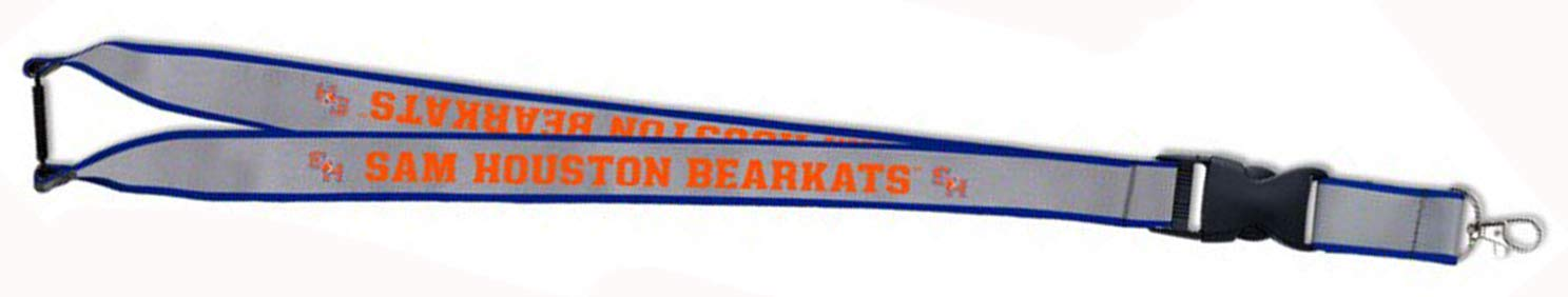 WinCraft Sam Houston State SH Bearkats Premium Reflective Lanyard with Both Detachable End and Safety Breakaway