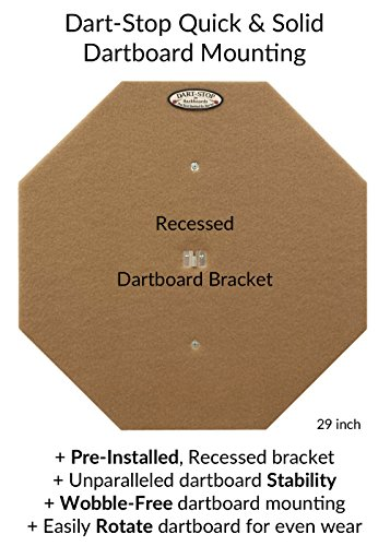 "29"" Professional Dartboard Backboard, Octagonal (Black)"