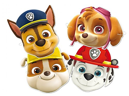 12 - PAW PATROL DRESS UP CARD MASKS - FANCY DRESS PARTY BAG FILLERS FACE MASK MustBeBonkers