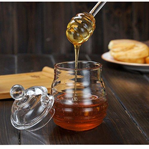 Glass Honey Jar Honey Pot Jam Jar W Dipper And Lid