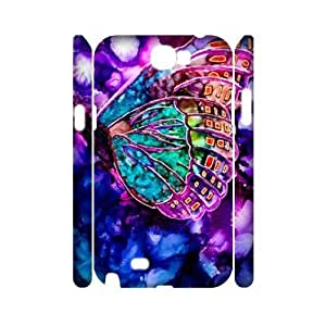 Butterfly 3D-Printed ZLB580653 Custom 3D Phone Case for Samsung Galaxy Note 2 N7100 by icecream design