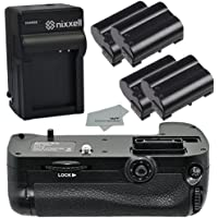 Nixxell NX-NBGD7100 Premium Replacement Battery Grip for Nikon D7100 DSLR Camera (Nikon MB-D15 Replacement) + 4 Nixxell EN-EL15 batteries + Microfiber Cloth + Charger