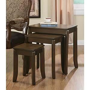 Coaster 901071 3-Piece Nesting Table Set, Cappuccino