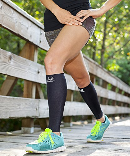 BioSkin Calf Sleeve - Compression Calf Sleeves - Medical Grade Compression - Hypoalergenic - Breathable - Medium (Pair)