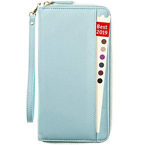 Women Travel Wallet for Women RFID Blocking -