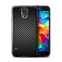 STUFF4 Phone Case / Cover for Samsung Galaxy S5 Neo/G903 / Grey Design / Carbon Fibre Effect/Pattern Collection