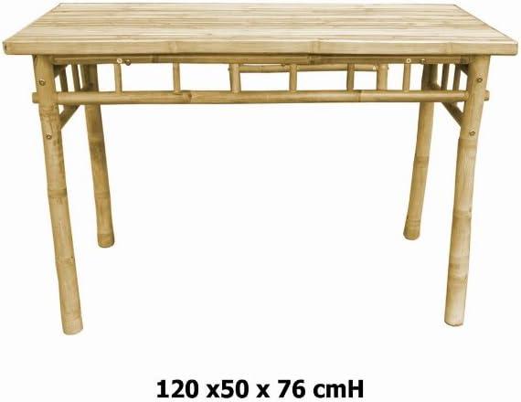 kien Comedor Mesa de bambú, Mesa Plegable, Mesa de Madera: Amazon ...