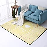 Carpets Rugs Carpet Rug Carpet European Style Simple Heart-Shaped Bedroom Coffee Table Sofa Room Bedside Home Rectangular Carpet (Color : C#, Size : 180 * 180cm (71 * 71inch))